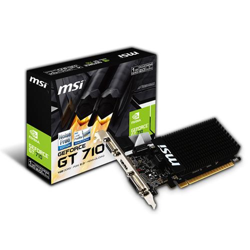 MSI Nvidia 1GB GT710 1GD3H LP DDR3 64 Bit HDMI DVI VGA