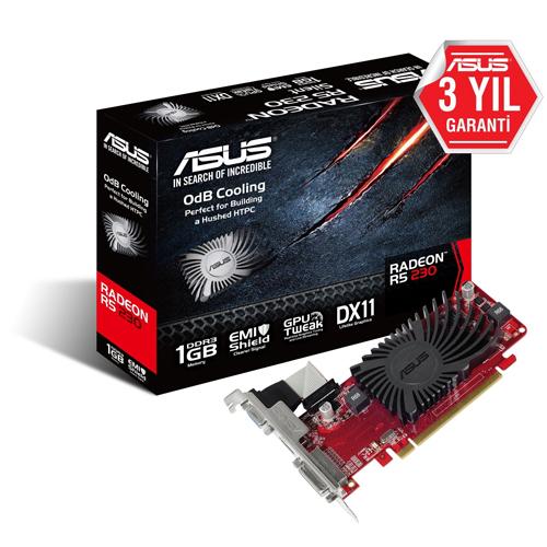 ASUS AMD 1GB R5 230 Silent DDR3 64 Bit R5230-SL-1GD3-L HDMI DVI