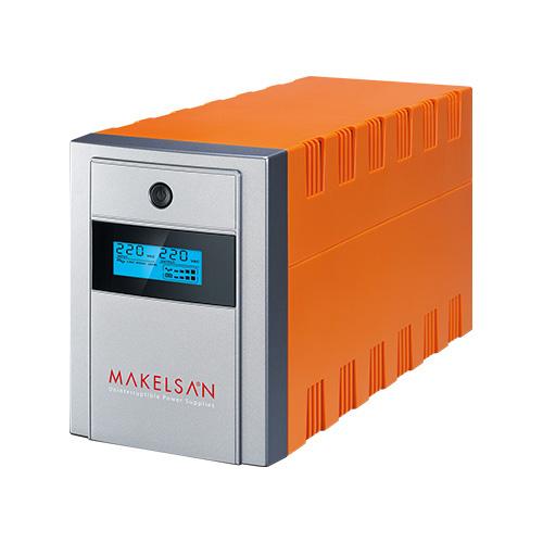 MAKELSAN LION PLUS 1500 VA Line Interactive 5-15 Dk. Lcd Ekran 2x12V 9AH -
