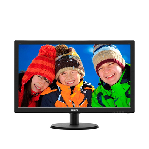 PHILIPS 21.5 223V5LHSB2-01 5Ms Analog + HDMI Led Monitör Parlak Siyah