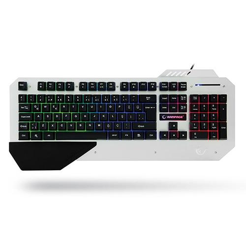 EVEREST Rampage KB-R04 Q Usb Multimedya Siyah Aydınlatmalı Gaming Klavye