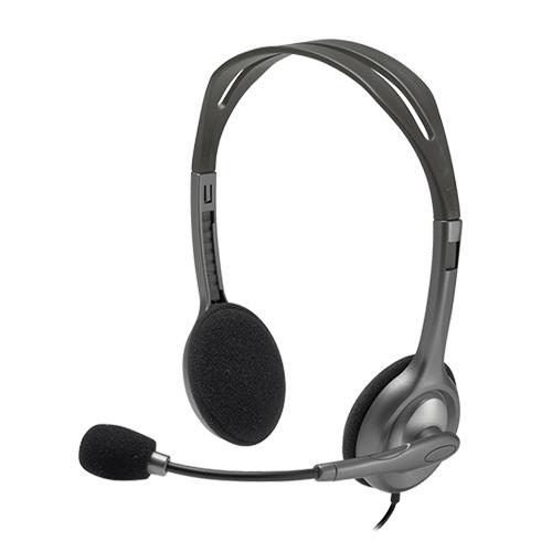 Logitech 981-000593 H111 Stereo Mikrofonlu Headset Gri