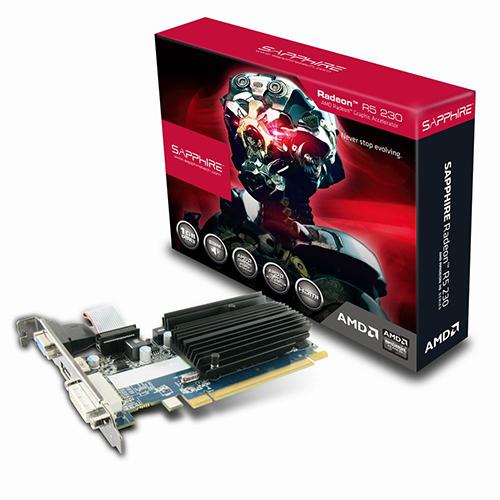 SAPPHIRE AMD 1GB R5 230 GDDR3 64 Bit 11233-01-20G HDMI DVI-D