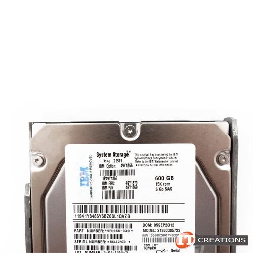 IBM 6G 600GB 3.5 15K SAS SERVER HDD 49Y1870