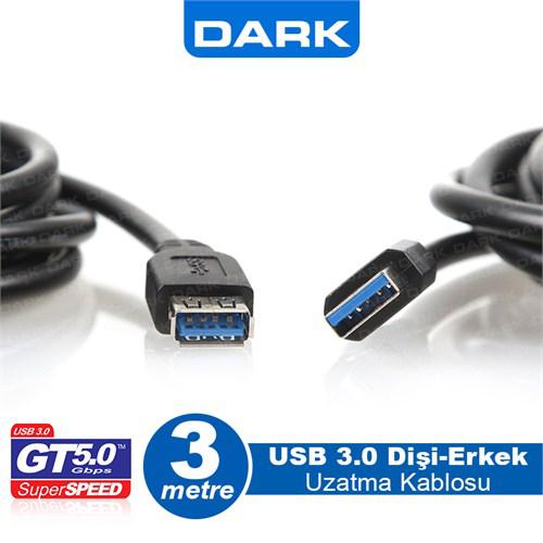 DARK DK-CB-USB3EXTL300 Usb 3.0 Usb Uzatma Kablo ( 3 Metre )