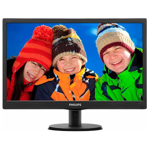 PHILIPS 18.5 193V5LSB2/10 5Ms Analog Led Monitör Parlak Siyah