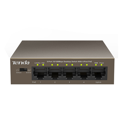 TENDA 5 Port TEF1105P 10/100 4x POE Switch (58W)
