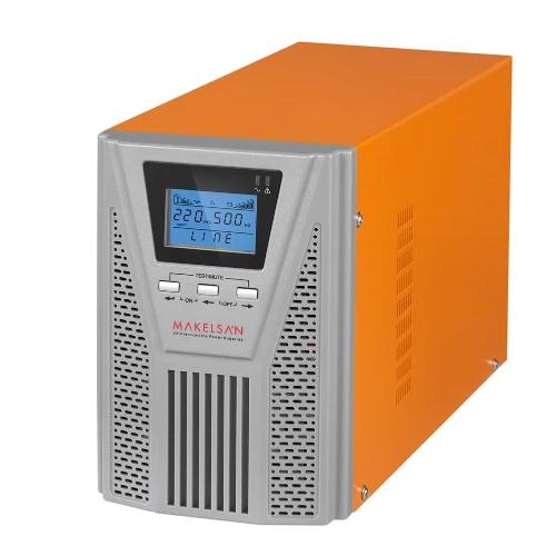 MAKELSAN MU01000N11EA006 POWERPACK SE 1 KVA 1F/1F On Line 5-10 Dk. Lcd Ekran UPS 2*12V 9AH