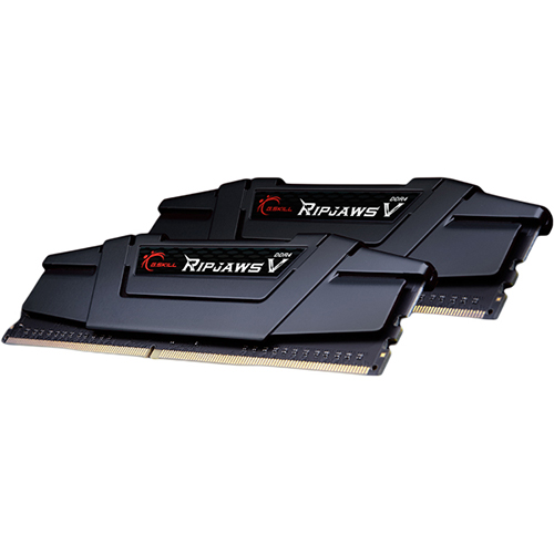 GSKILL RipjawsV Siyah 16GB (2x8GB) 3200Mhz DDR4 Soğutuculu CL16 Pc Ram F4-3200C16D-16GVKB