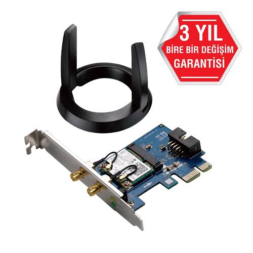 ASUS PCE-AC55BT 2.4 GHz / 5 GHz AC1200 Bluetooth 4.0 PCI EXPRESS Wireless Adaptör
