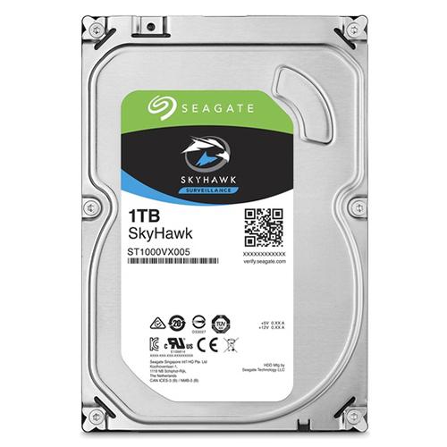 SEAGATE 3.5 SKYHAWK 1TB 5900RPM 64MB SATA3 Güvenlik HDD ST1000VX005 (7/24)