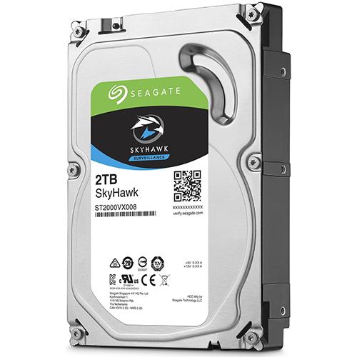 SEAGATE 3.5 SKYHAWK 2TB 5900RPM 64MB SATA3 Güvenlik HDD ST2000VX008 (7/24)
