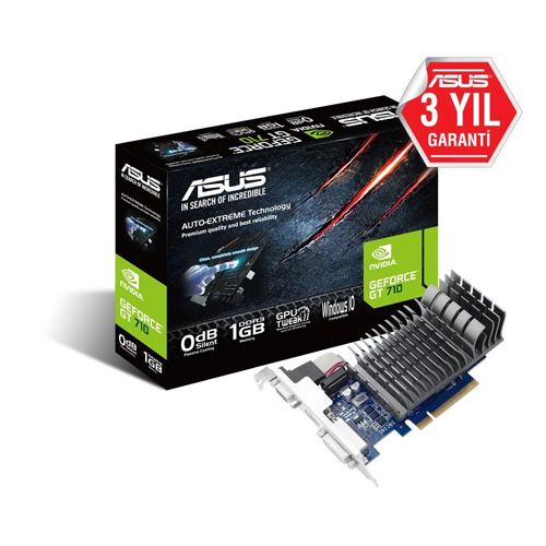 ASUS Nvidia 1GB GT710 LOW PROFILE DDR3 64 Bit 710-1-SL HDMI DVI