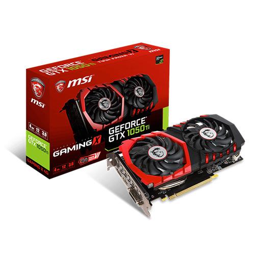 MSI Nvidia 4GB GTX1050 Ti GAMING X 4G GDDR5 128 Bit HDMI DVI-D DP