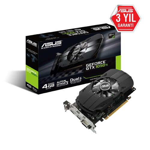 ASUS Nvidia 4GB GTX1050 Ti GDDR5 128 Bit PH-GTX1050TI-4G HDMI DVI-D DP