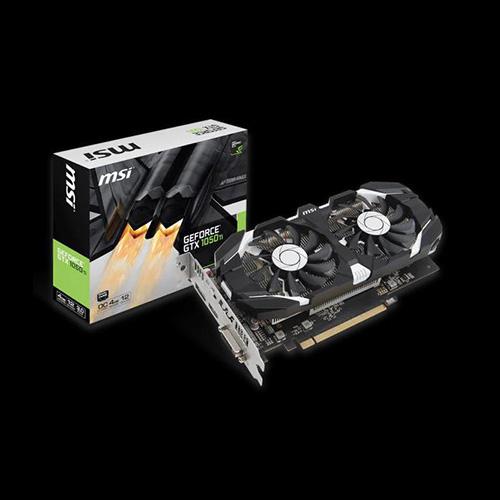 MSI Nvidia 4GB GTX1050 Ti 4GT OC GDDR5 128 Bit HDMI DL-DVI-D DP