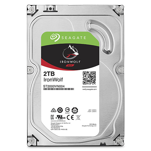 SEAGATE 3.5 IRONWOLF 2TB 5900RPM 64MB SATA3 NAS HDD ST2000VN004 (7/24)