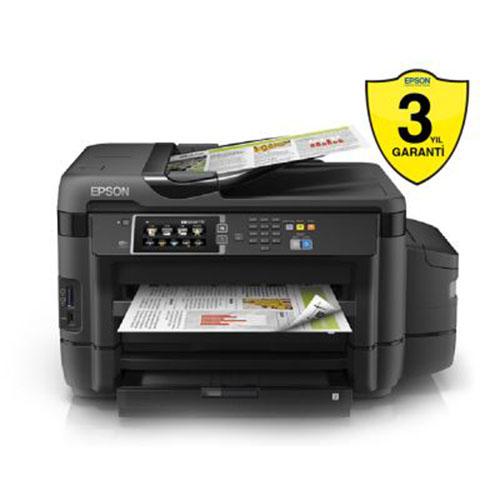 EPSON C11CF49401 TANKLI L1455 Inkjet Fotokopi Tarayıcı Fax 32 ppm S/B 20 ppm Renkli Renkli A3 Yazıcı USB 2.0, Network, W