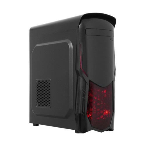 FRISBY FC-8920G 400W Midi Tower ATX Kasa 2*12cm Renkli Fan Siyah 1 x USB 2.0, 1 x USB 3.0,