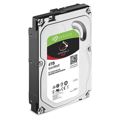 SEAGATE 3.5 IRONWOLF 4TB 5900RPM 64MB SATA3 NAS HDD ST4000VN008 (7/24)