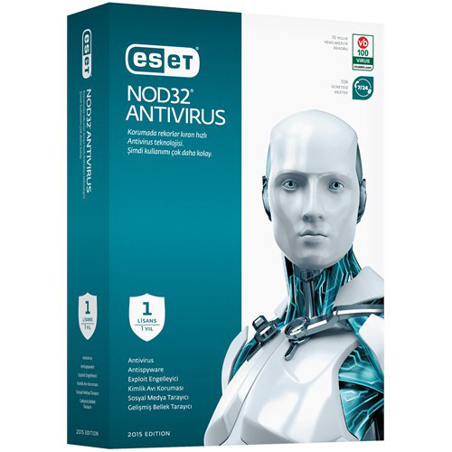 ESET NOD32 Antivirüs V10 Türkçe 1 Kullanıcı 1 Yıl Box