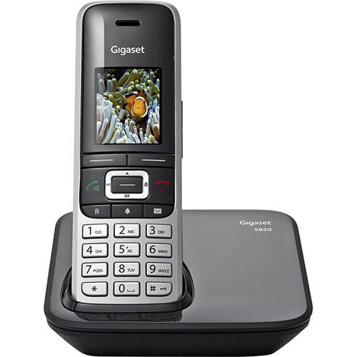 GIGASET S850 Dect 1.4 ekran 500 Rehber 20 Arama Kaydı USB BT bağlantı telefon Black
