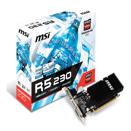MSI AMD 2GB R5 230 2GD3H LP DDR3 64 Bit HDMI DVI VGA