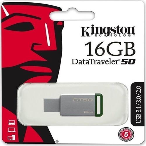 KINGSTON 16GB Metal Kasa USB 3.1 Flash Disk DT50/16GB