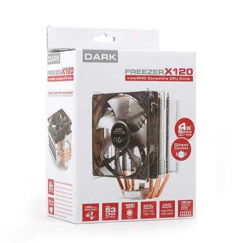Dark Freezer X120 DK-CC-X120AM4 Intel LGA115x,1366 AM2,AM3,FM1 Ledli 120MM İşlemci Fanı