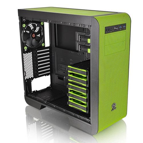THERMALTAKE Core V51 Riing Edition CA-1C6-00M8WN-00 Mid Tower Gaming Kasa Yeşil Usb 3.0 + Pencereli