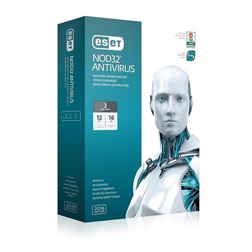 ESET NOD32 Antivirüs V10 Türkçe 3 Kullanıcı 1 Yıl Box