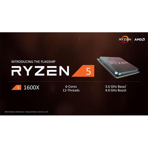 AMD RYZEN 5 1600 3.6 GHz AM4+ 65W Wraith (Ekran Kartı Gerekir)