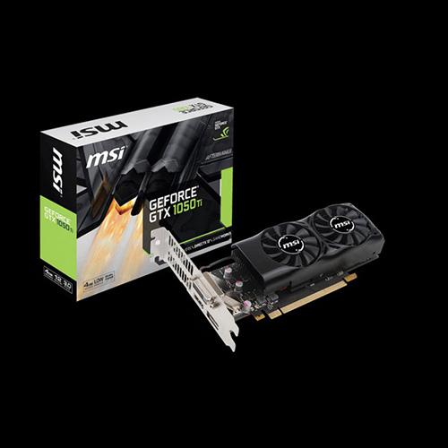 MSI Nvidia 4GB GTX1050 Ti 4GT LP GDDR5 128 Bit HDMI DVI DP