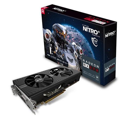 SAPPHIRE AMD 8GB RX 570 NITRO+ GDDR5 256 Bit 11266-09-20G 2xHDMI DVI 2xDP