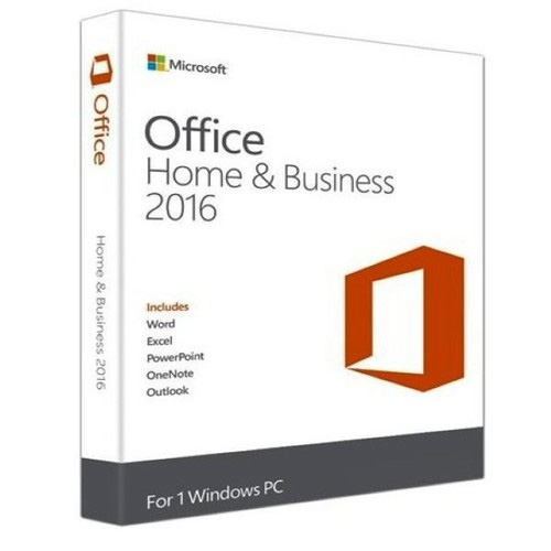 Microsoft Office Home and Business 2016 Trk Box 32/64 Bit T5D-02714