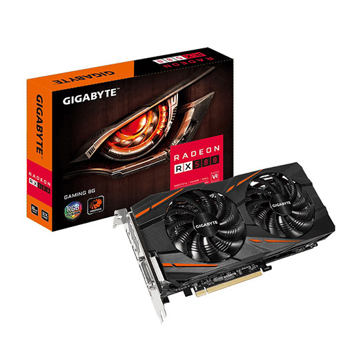 GIGABYTE AMD 8GB RX 580 GAMING 8G GDDR5 256 Bit GV-RX580GAMING-8GD HDMI DVI-D 3xDP