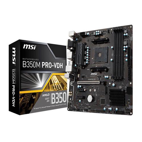 MSI AMD B350M PRO-VDH B350 DDR4 3200(OC) DVI VGA HDMI GLAN AM4 M.2 USB3.1 mATX