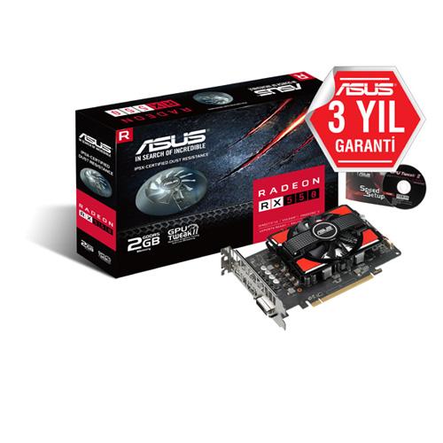 ASUS AMD 2GB RX 550 GDDR5 128 Bit AREZ-PH-RX550-2G HDMI DVI DP