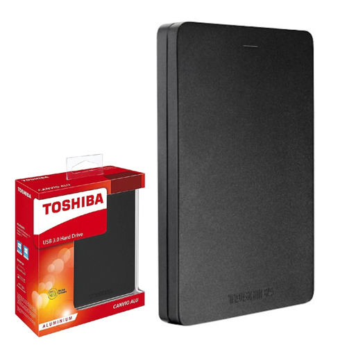 TOSHIBA 2.5 Canvio Alu 1TB USB 3.0 EXTERNAL HDD SİYAH HDTH310EK3AB