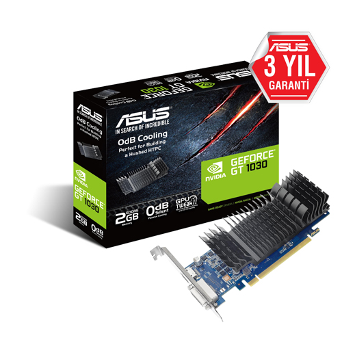 ASUS Nvidia 2GB GT1030 GDDR5 64 Bit GT1030-SL-2G-BRK HDMI DVI-D HDCP