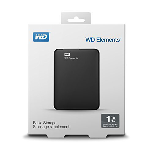 WD 2.5 ELEMENTS 1TB USB 3.0 EXTERNAL HDD SİYAH WDBUZG0010BBK-WESN