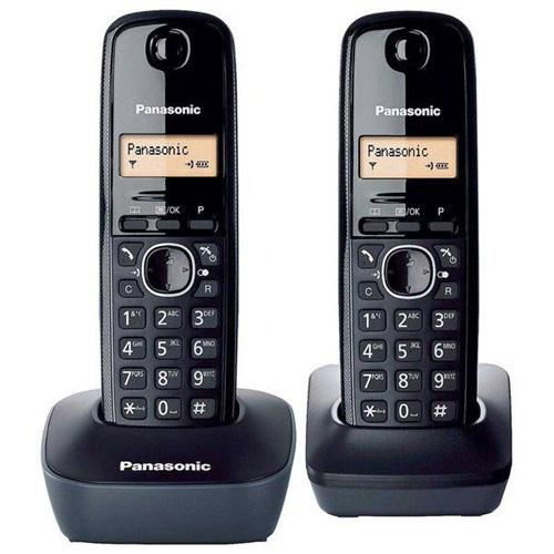 PANASONIC KX-TG 1612 DECT TELEFON Siyah