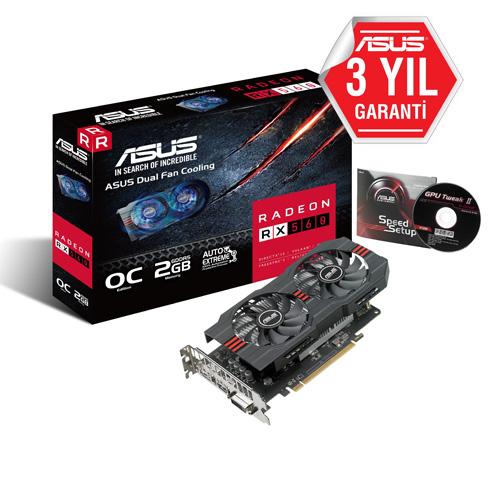 ASUS AMD 2GB RX 560 GDDR5 128 Bit RX560-O2G HDMI DVI-D DP