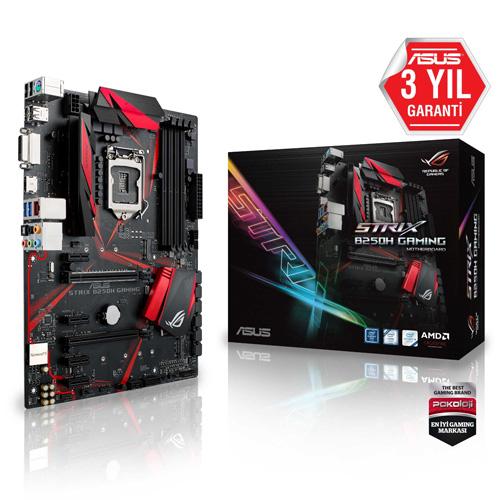 ASUS INTEL ROG STRIX B250H GAMING B250 DDR4 2400 O/B VGA GLAN 1151P-7 USB 3.1