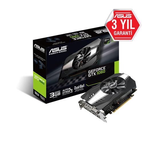 ASUS Nvidia 3GB GTX1060 GDDR5 192 Bit PH-GTX1060-3G 2xHDMI 2xDP