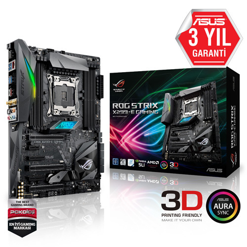 ASUS INTEL ROG STRIX X299-E GAMING X299 DDR4 4000 GLAN 2066p USB 3.1