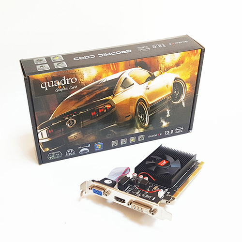 Quadro AMD 2GB R5 230 2GD3 DDR3 64 Bit HDMI DVI 16X (PCIe 2.0) Low Profile