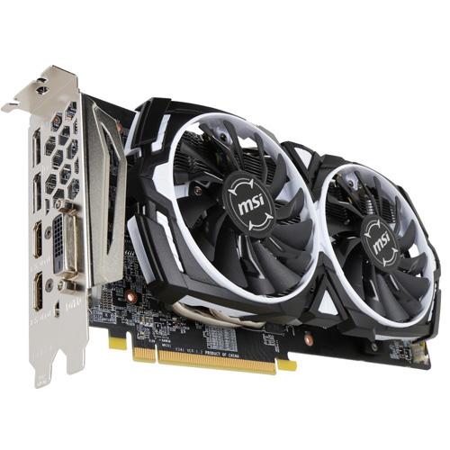 MSI AMD 8GB RX 580 RADEON RX 580 ARMOR 8G GDDR5 256 Bit 2xHDMI DL-DVI-D 2xDP