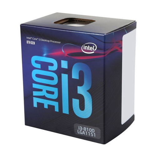 INTEL Core i3 8100 3,60 GHz 6MB VGA 1151P COFFEELAKE BOX FAN VAR