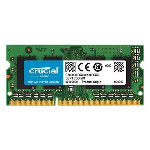 CRUCIAL 4GB 1600Mhz DDR3 CL11 Notebook Ram CT51264BF160B (1.35V)